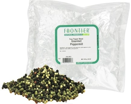 DROPPED: Frontier Natural Products - Peppermill Gourmet Four Pepper Blend - 1 lb. CLEARANCE PRICED