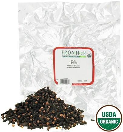 DROPPED: Frontier Natural Products - Cloves Whole Organic - 1 lb. CLEARANCE PRICED