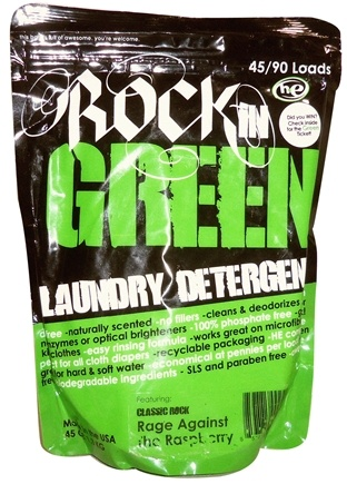 DROPPED: Rockin' Green - Classic Rock Laundry Detergent Remix Rage Against The Raspberry - 45 oz. CLEARANCE PRICED