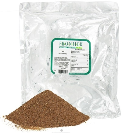 DROPPED: Frontier Natural Products - Taco Seasoning - 1 lb. CLEARANCE PRICED