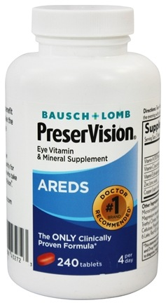 Bausch & Lomb - PreserVision AREDS Formula - 240 Tablet(s)