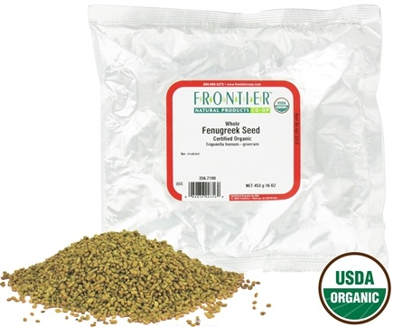 DROPPED: Frontier Natural Products - Fenugreek Seed Whole Organic - 1 lb.