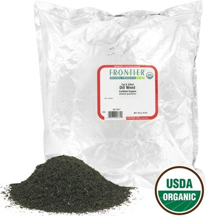 DROPPED: Frontier Natural Products - Dill Weed Cut & Sifted Organic - 1 lb. CLEARANCE PRICED