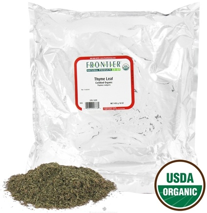 DROPPED: Frontier Natural Products - Thyme Leaf Whole Organic - 1 lb. CLEARANCE PRICED