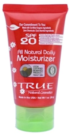 DROPPED: True Natural Cosmetics - All Natural Daily Moisturizer 20 SPF - 1 oz. CLEARANCE PRICED