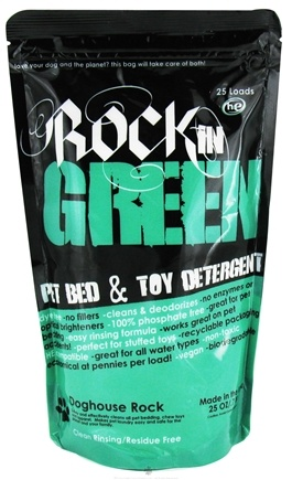 DROPPED: Rockin' Green - Dog House Rock Pet Toy & Bedding Detergent - 25 oz. CLEARANCE PRICED