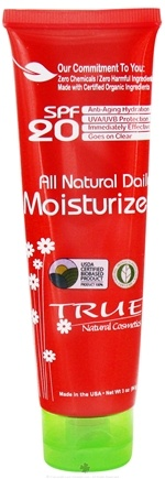 DROPPED: True Natural Cosmetics - All Natural Daily Moisturizer 20 SPF - 3 oz. CLEARANCE PRICED