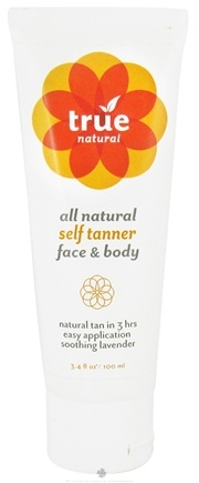 DROPPED: True Natural Cosmetics - All Natural Self Tanner Face & Body - 3.4 oz. CLEARANCE PRICED