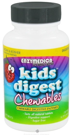 DROPPED: Enzymedica - Kids Digest Sour Berry - 90 Chewable Tablets