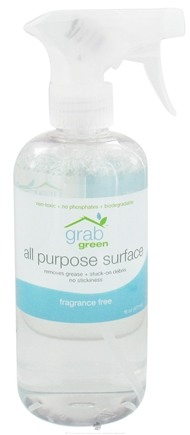 DROPPED: GrabGreen - All Purpose Surface Cleaner Fragrance Free - 16 oz. CLEARANCE PRICED