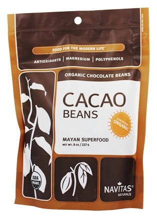 Navitas Naturals - Cacao Raw Chocolate Beans Certified Organic - 8 oz.
