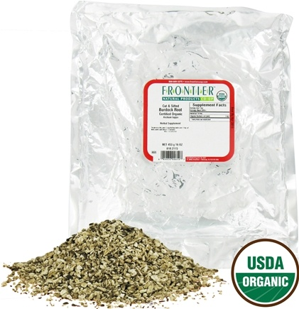 DROPPED: Frontier Natural Products - Burdock Root Cut & Sifted Organic - 1 lb. CLEARANCE PRICED