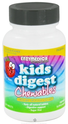 DROPPED: Enzymedica - Kids Digest Sour Berry - 30 Chewable Tablets