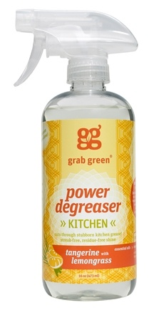 DROPPED: GrabGreen - Degreaser Cleaner Tangerine with Lemongrass - 16 oz. CLEARANCE PRICED