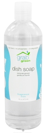 DROPPED: GrabGreen - Dish Soap Fragrance Free - 16 oz. CLEARANCE PRICED
