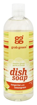 GrabGreen - Dish Soap Tangerine with Lemongrass - 16 oz.