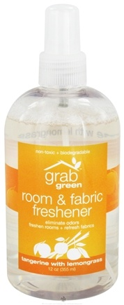 DROPPED: GrabGreen - Room & Fabric Freshener Tangerine with Lemongrass - 12 oz.