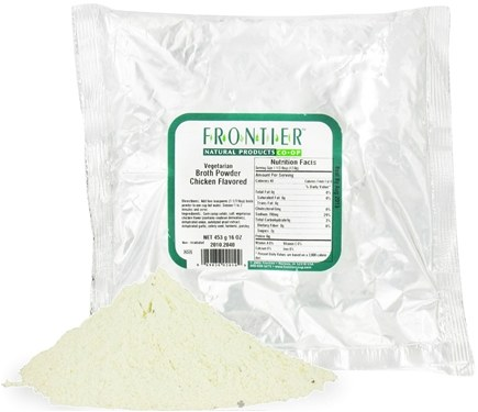 DROPPED: Frontier Natural Products - Broth Powder Chicken Flavor - 1 lb. CLEARANCE PRICED