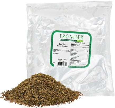DROPPED: Frontier Natural Products - Bac'uns Bacon-less Bits - 1 lb. CLEARANCE PRICED