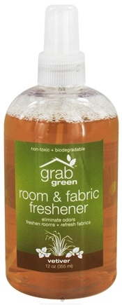 DROPPED: GrabGreen - Room & Fabric Freshener Vetiver - 12 oz.