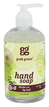 DROPPED: GrabGreen - Hand Soap Thyme with Fig Leaf - 12 oz. CLEARANCE PRICED