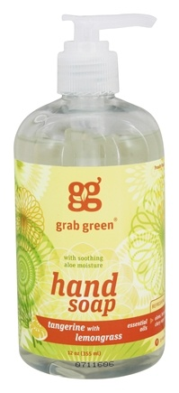 DROPPED: GrabGreen - Hand Soap Tangerine with Lemongrass - 12 oz. CLEARANCE PRICED