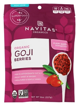 Navitas Naturals - Sun-Dried Goji Berries Certified Organic - 8 oz.