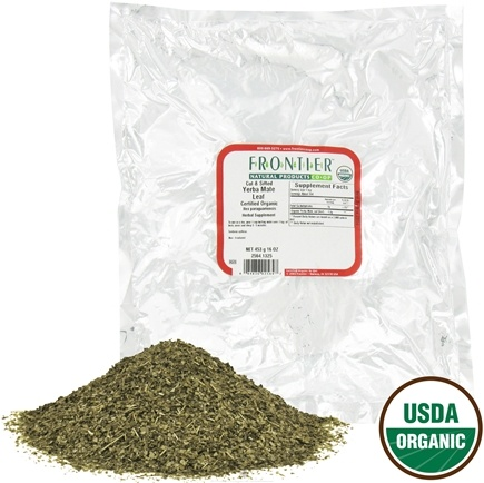 DROPPED: Frontier Natural Products - Bulk Yerba Mate Leaf Cut & Sifted Organic - 1 lb.