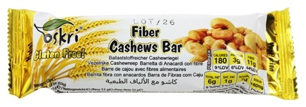 DROPPED: Oskri - Fiber Bar Gluten-Free Cashew - 1.9 oz.