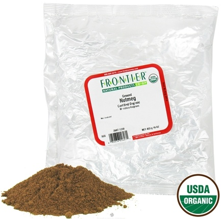 DROPPED: Frontier Natural Products - Nutmeg Ground Organic - 1 lb. CLEARANCE PRICED