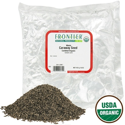 DROPPED: Frontier Natural Products - Caraway Seed Whole Organic - 1 lb. CLEARANCE PRICED