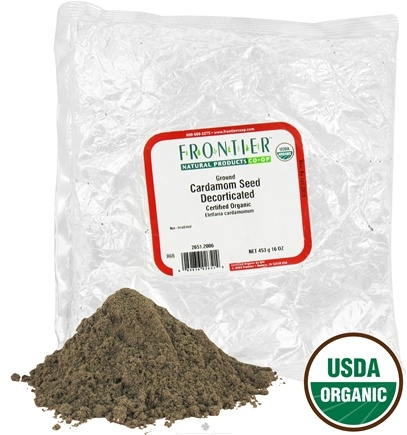DROPPED: Frontier Natural Products - Cardamom Seed Ground Decorticated Organic - 1 lb. CLEARANCE PRICED
