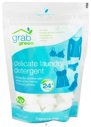 DROPPED: GrabGreen - Delicate Laundry Detergent 24 Loads Fragrance Free - 8.4 oz. CLEARANCE PRICED