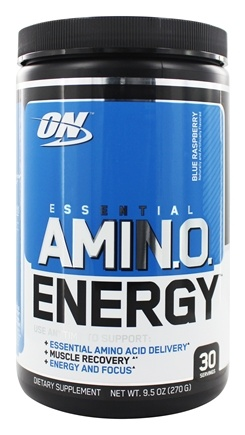 Optimum Nutrition - Essential Amino Energy 30 Servings Blue Raspberry - 0.6 lbs.