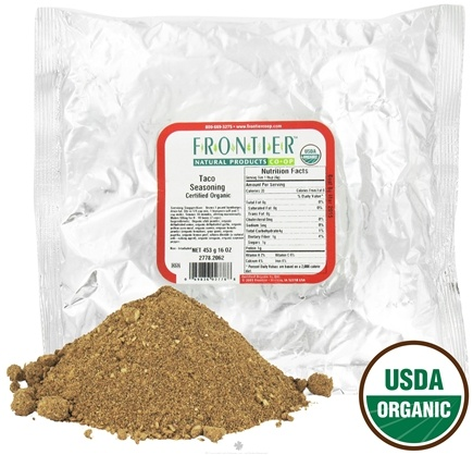 DROPPED: Frontier Natural Products - Taco Seasoning Organic - 1 lb.
