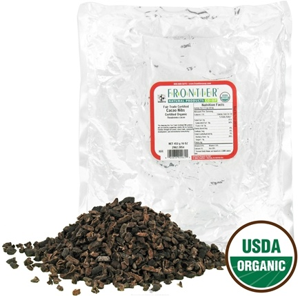 Frontier Natural Products - Cacao Nibs Organic - 1 lb.