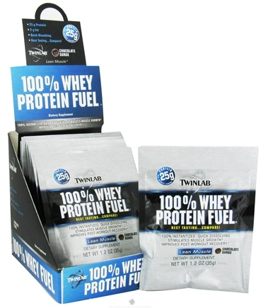 DROPPED: Twinlab - 100% Whey Protein Fuel Chocolate Surge - 1.2 oz. CLEARANCE PRICED