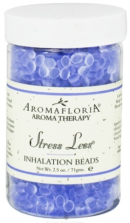 DROPPED: AromaFloria - Stress Less Inhalation Beads Aromatherapy Lavender Chamomile Sage - 2.5 oz. CLEARANCE PRICED