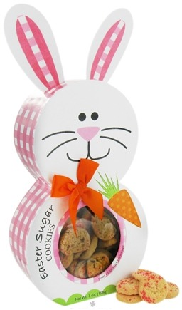 DROPPED: Too Good Gourmet - Sugar Cookies with Sprinkles in Easter Bunny Character Box - 7 oz. CLEARANCE PRICED