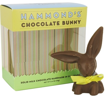 DROPPED: Hammond's Candies - All Natural Solid Milk Chocolate Handmade Small Floppy Ear Bunny - 2.4 oz.