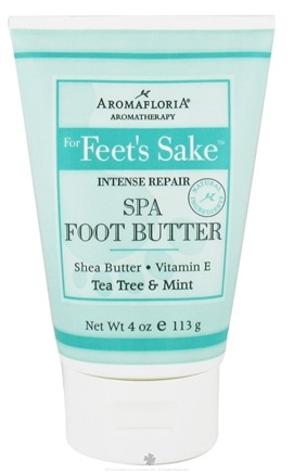 DROPPED: AromaFloria - For Feet's Sake Intense Repair Spa Foot Butter Aromatherapy Tea Tree & Mint - 4 oz. CLEARANCE PRICED