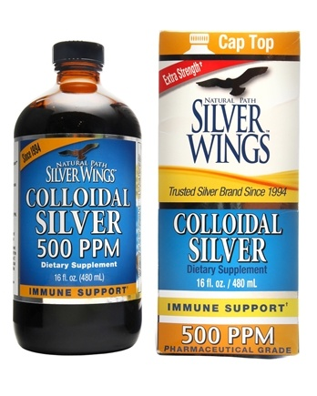 Natural Path Silver Wings - Colloidal Silver 500 Ppm - 16 oz.