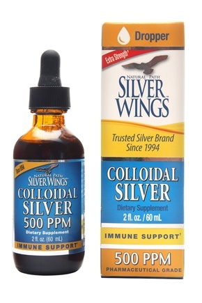 Natural Path Silver Wings - Colloidal Silver 500 Ppm - 2 oz.