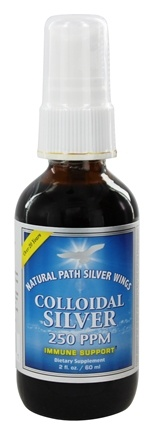 Natural Path Silver Wings - Colloidal Silver Spray 250 Ppm - 2 oz.