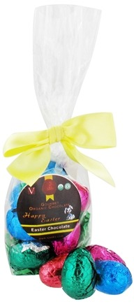 DROPPED: Sjaak's Organic Chocolate - Chocolate Easter Eggs 12 Count Bag Vegan Milk Chocolate - 6 oz. CLEARANCE PRICED