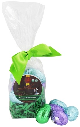 DROPPED: Sjaak's Organic Chocolate - Chocolate Easter Eggs 12 Count Bag Vegan Dark Chocolate - 6 oz.