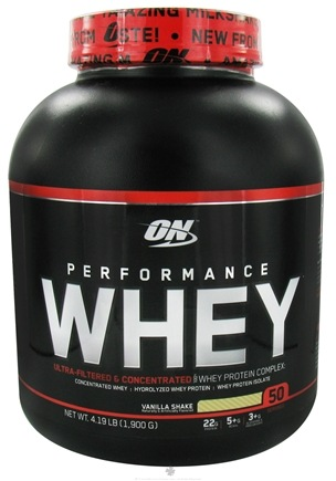 DROPPED: Optimum Nutrition - Performance Whey 50 Servings Vanilla Shake - 4.19 lbs.