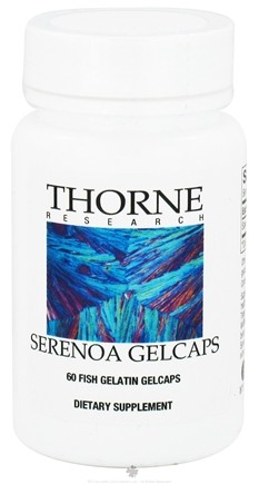 DROPPED: Thorne Research - Serenoa Gelcaps - 60 Fish Gelatin Gelcaps