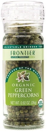 DROPPED: Frontier Natural Products - Green Peppercorns Whole Organic - 0.92 oz. CLEARANCE PRICED