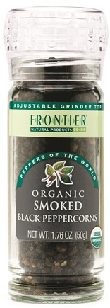 DROPPED: Frontier Natural Products - Black Peppercorns Smoked Organic - 1.76 oz. CLEARANCE PRICED